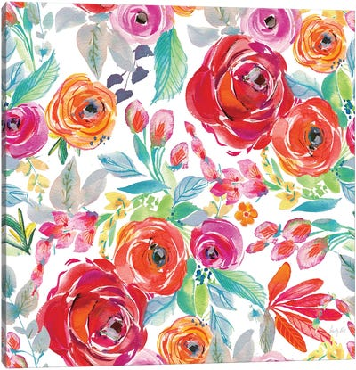 Fridas Flower Fancy Pattern I Canvas Art Print