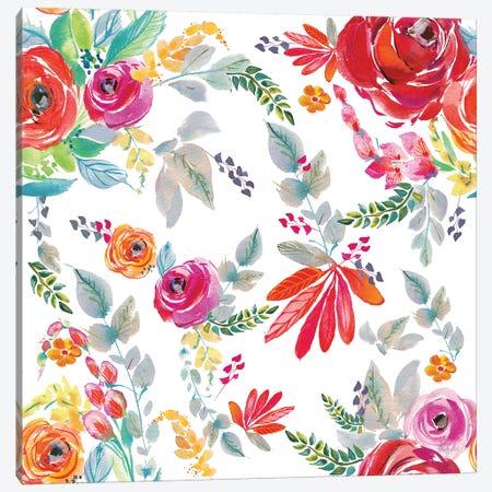 Fridas Flower Fancy Pattern II Canvas Print #KRR16} by Kristy Rice Canvas Artwork