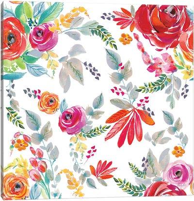 Fridas Flower Fancy Pattern II Canvas Art Print