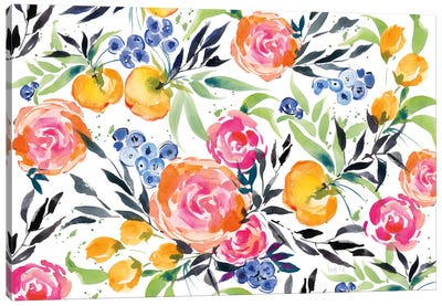 Blueberries Among Us Canvas Art Print