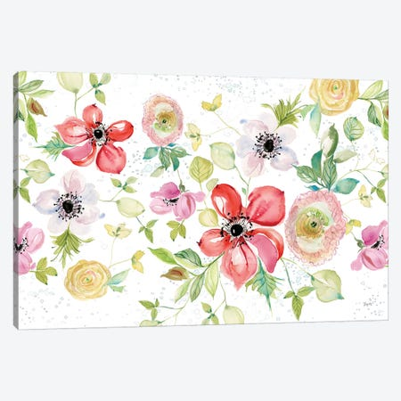 Spray of Anemones I Canvas Print #KRR20} by Kristy Rice Canvas Artwork