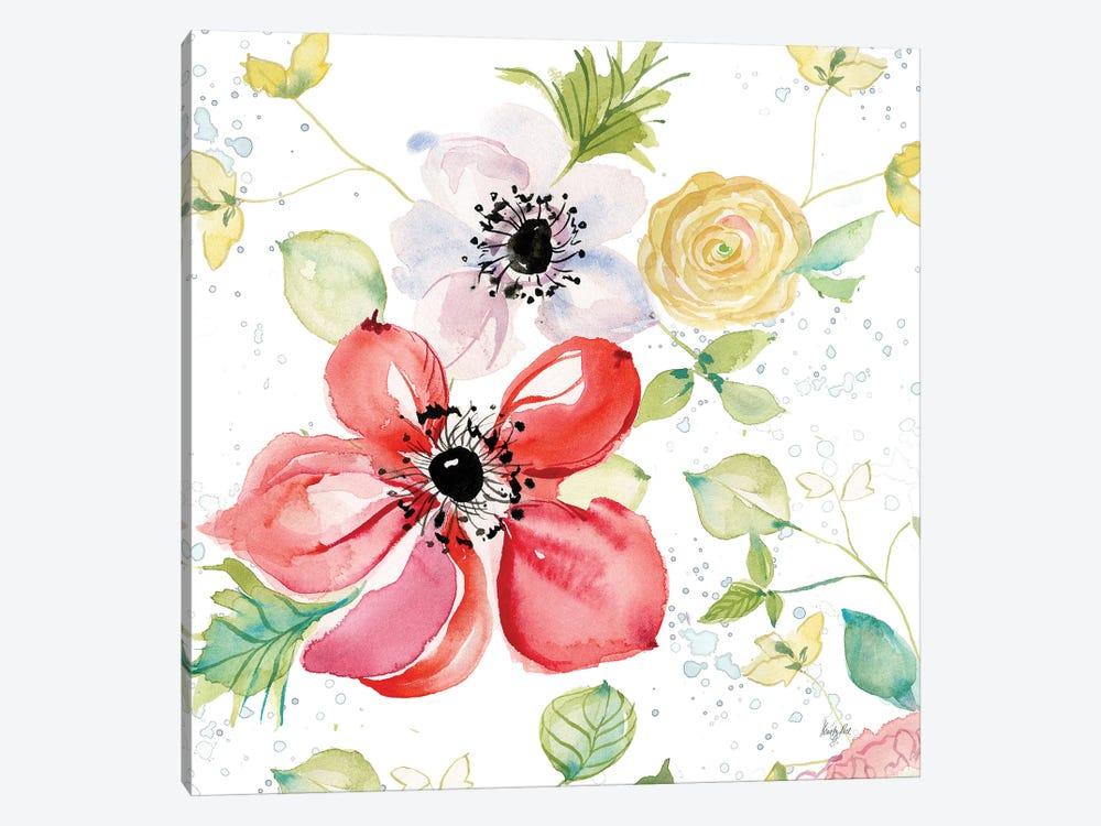 Spray of Anemones II by Kristy Rice 1-piece Canvas Print