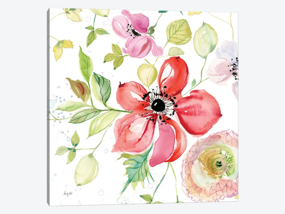 Spray of Anemones III by Kristy Rice 1-piece Canvas Wall Art