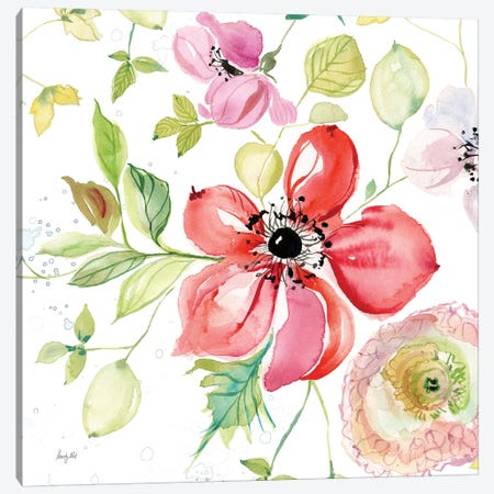 Spray of Anemones III 3-Piece Canvas #KRR22} by Kristy Rice Canvas Art