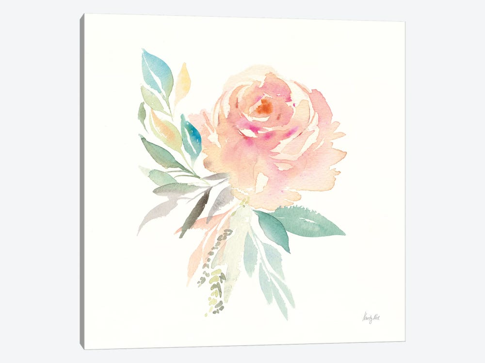 Watercolor Blossom III by Kristy Rice 1-piece Canvas Art Print
