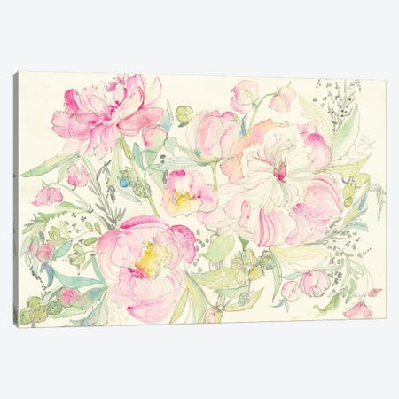 Peony Garden Canvas Print #KRR38} by Kristy Rice Canvas Print