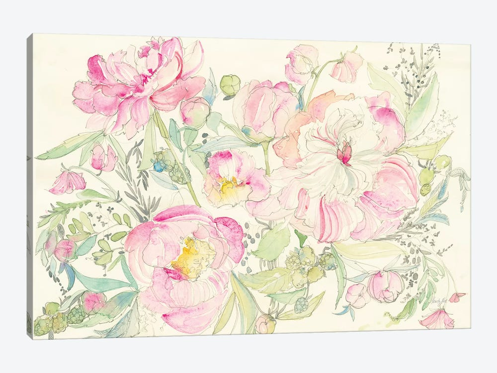 Peony Garden by Kristy Rice 1-piece Canvas Art Print