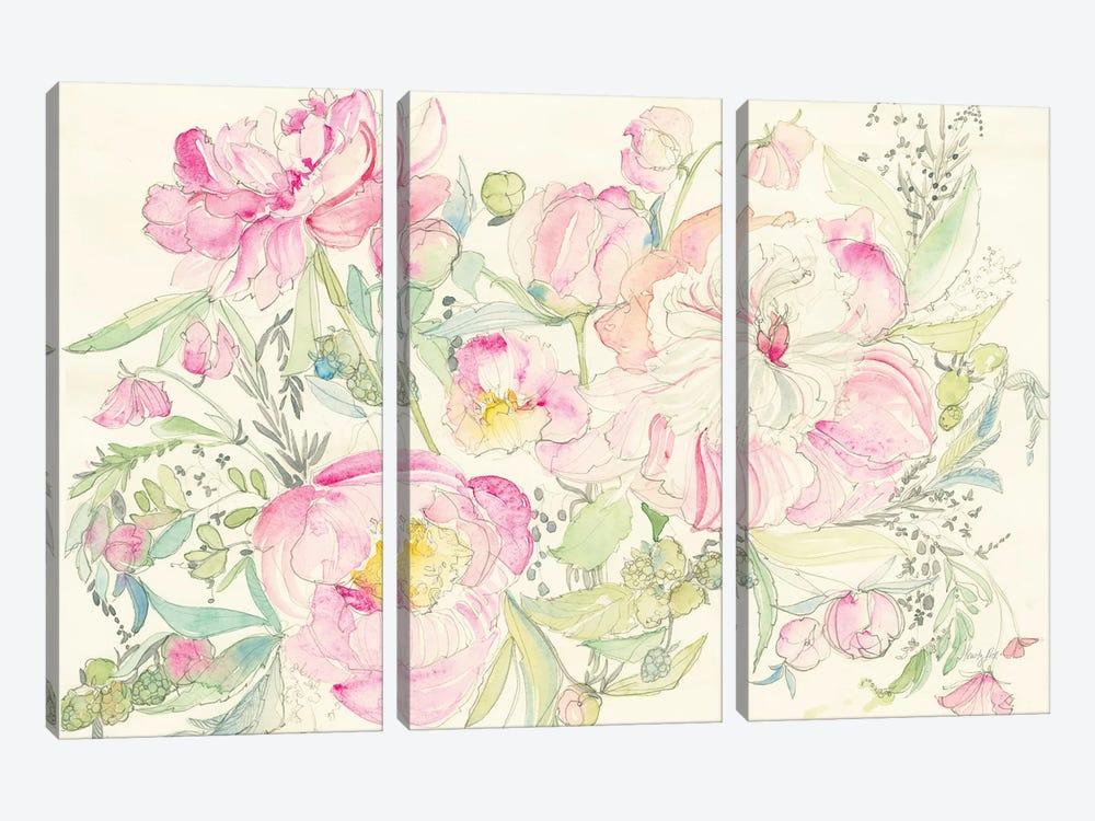 Peony Garden by Kristy Rice 3-piece Canvas Print