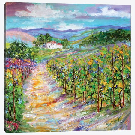 Original Oil Painting Napa Valley California Canvas Print #KRT101} by Karen Tarlton Art Print