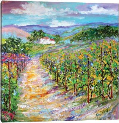 Original Oil Painting Napa Valley California Canvas Art Print