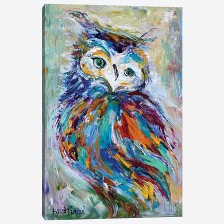 Owl Whimsy Canvas Print #KRT104} by Karen Tarlton Canvas Art