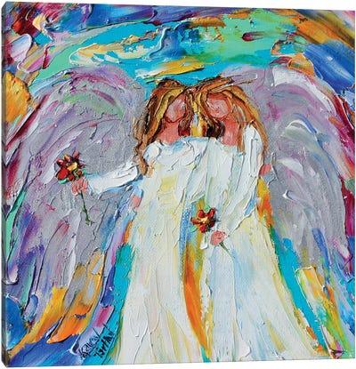 Angel Besties Canvas Art Print
