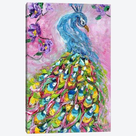 Peacock Dance Canvas Print #KRT112} by Karen Tarlton Canvas Art