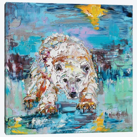 Polar Bear Canvas Print #KRT115} by Karen Tarlton Art Print