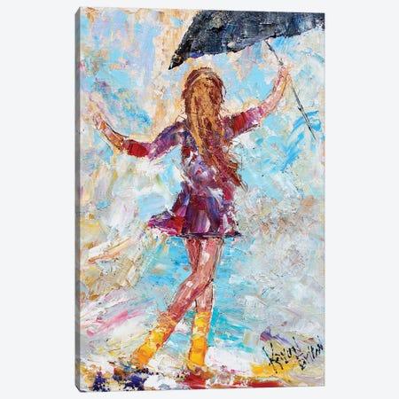 Rain Dance Yellow Boots Canvas Print #KRT123} by Karen Tarlton Art Print