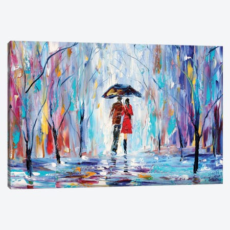 Rainy Love Canvas Print #KRT125} by Karen Tarlton Canvas Art