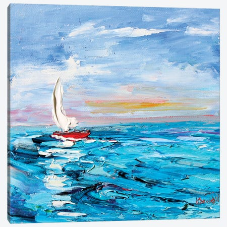 Sailboat Canvas Print #KRT129} by Karen Tarlton Canvas Print