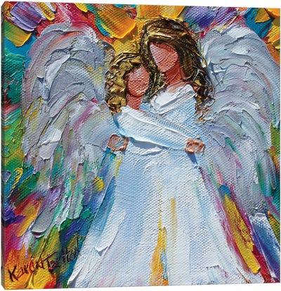 Angel Hugs Canvas Art Print