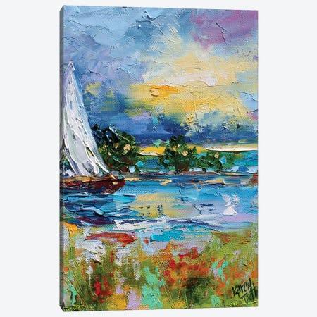 Sailing Into Sunset Canvas Print #KRT132} by Karen Tarlton Canvas Wall Art