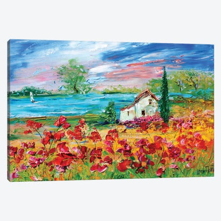 Seaside Cottage Sunshine Canvas Print #KRT135} by Karen Tarlton Canvas Art Print