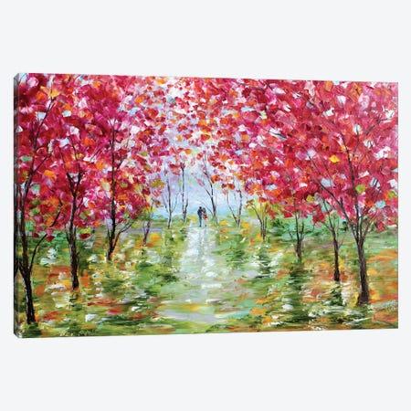 Spring Stroll Canvas Print #KRT143} by Karen Tarlton Canvas Print
