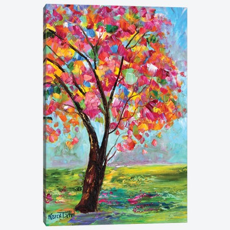 Spring Tree Canvas Print #KRT145} by Karen Tarlton Canvas Artwork