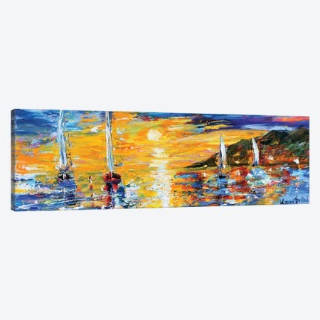 Sunset Sailing Canvas Print #KRT151} by Karen Tarlton Canvas Artwork