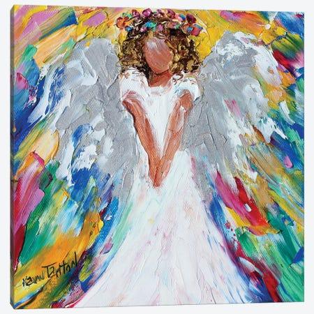 Sweet Angel With Halo Of Flowers Canvas Print #KRT155} by Karen Tarlton Canvas Art Print