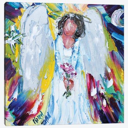 Angel Moon And Star Canvas Print #KRT16} by Karen Tarlton Canvas Wall Art