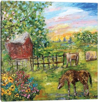 A Day On The Farm Canvas Art Print
