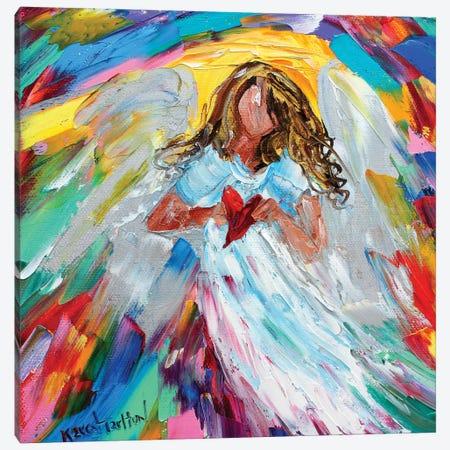 Angel Of My Heart Canvas Print #KRT21} by Karen Tarlton Canvas Wall Art