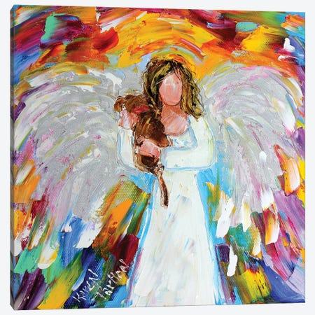 Angel Puppy Love Canvas Print #KRT22} by Karen Tarlton Canvas Art