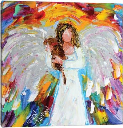Angel Puppy Love Canvas Art Print
