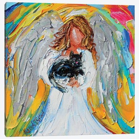 Angel With Cat Canvas Print #KRT24} by Karen Tarlton Canvas Print