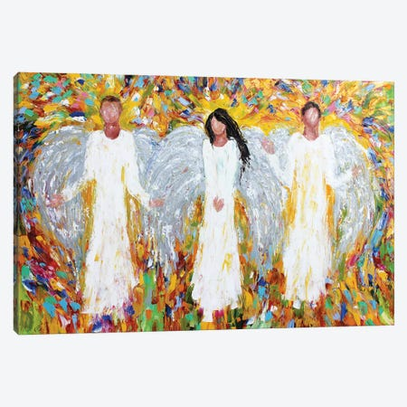Angels Three Canvas Print #KRT26} by Karen Tarlton Art Print