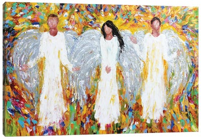 Angels Three Canvas Art Print