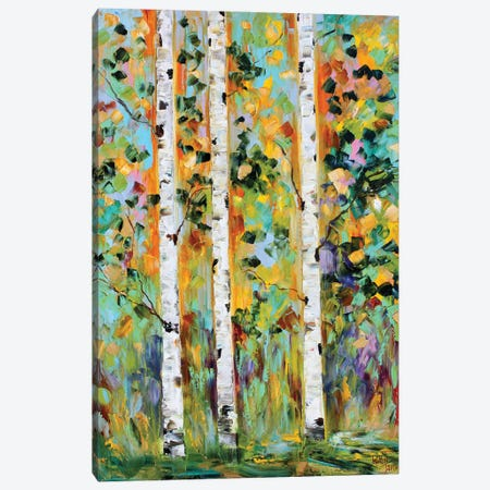 Autumn Birch Trees Canvas Print #KRT27} by Karen Tarlton Canvas Art Print