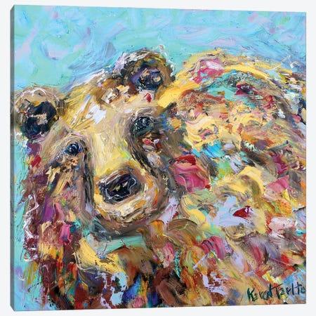 Bear Canvas Print #KRT31} by Karen Tarlton Art Print