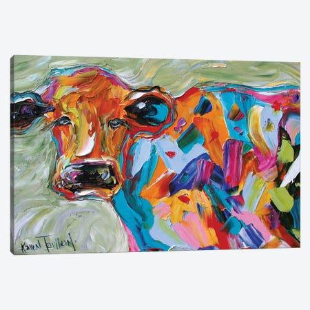 Beautiful Cow Canvas Print #KRT32} by Karen Tarlton Art Print