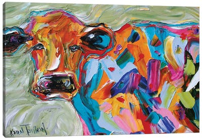 Beautiful Cow Canvas Art Print