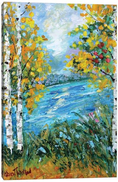 Birch Tree Fall Canvas Art Print