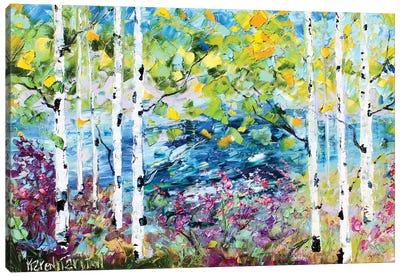 Birch Trees Spring Canvas Art Print