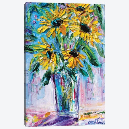 Bright Sunflowers Canvas Print #KRT38} by Karen Tarlton Canvas Print
