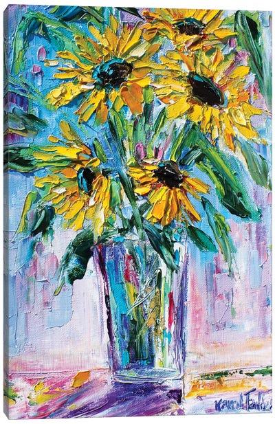 Bright Sunflowers Canvas Art Print
