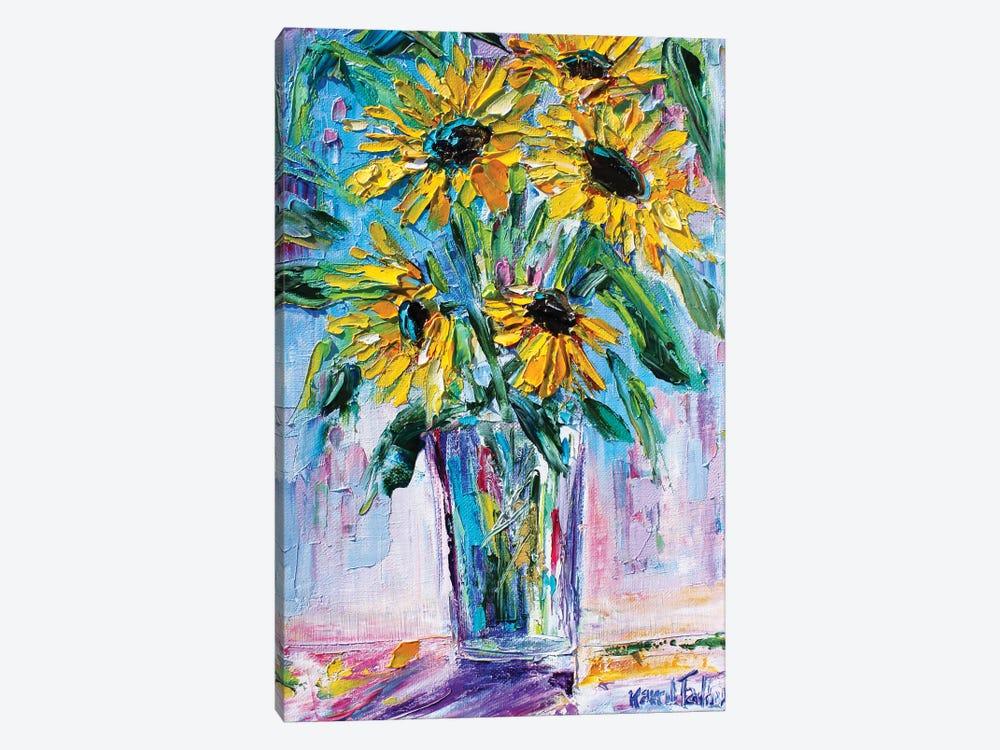 Bright Sunflowers by Karen Tarlton 1-piece Canvas Art Print
