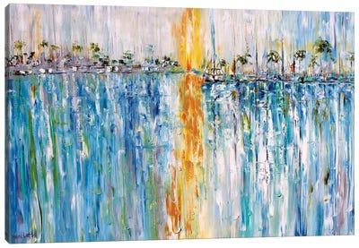 Abstract Harbor Boats Canvas Art Print