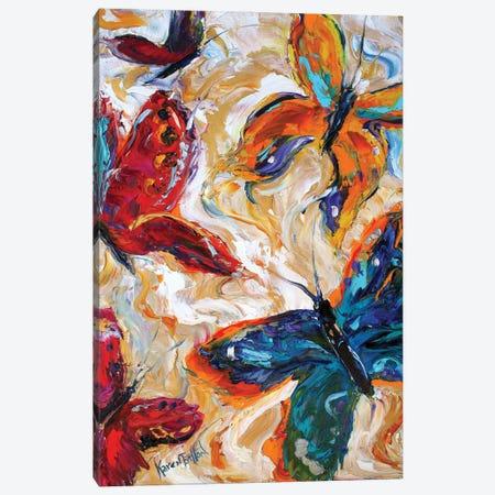 Butterflies Canvas Print #KRT40} by Karen Tarlton Canvas Wall Art