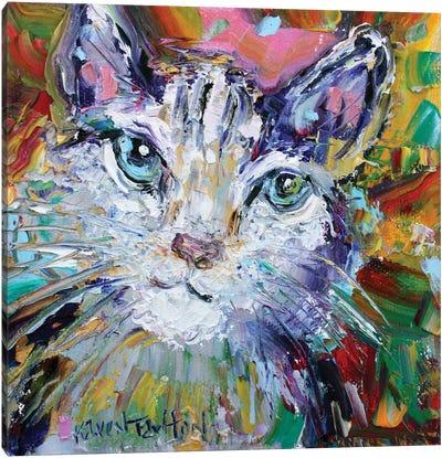 Cat Love Canvas Art Print