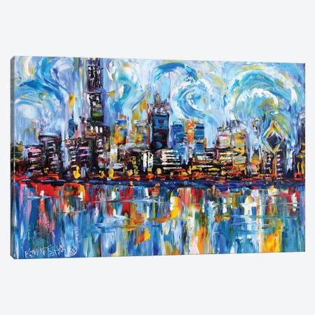 Chicago Skyline Canvas Print #KRT42} by Karen Tarlton Canvas Wall Art