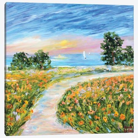 Coastal Poppies Canvas Print #KRT46} by Karen Tarlton Art Print